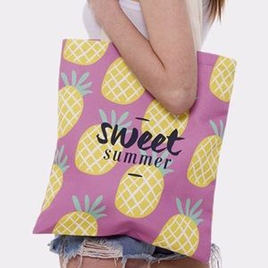 🆕Sweet Summer Pineapple Pattern Canvas Tote